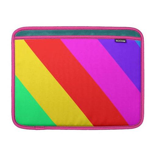 Horizontal Rainbow Stripe Pattern MacBook Sleeve