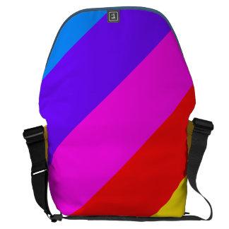 Horizontal Rainbow Stripe Pattern Messenger Bags
