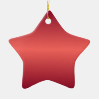 Horizontal Red1 - Pastel Red and Burgundy Gradient Christmas Ornaments