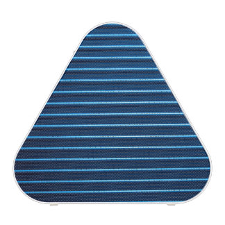 Horizontal ridged blue metal stripes pattern
