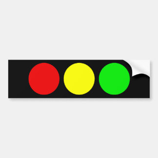 Horizontal Stoplight Bumper Sticker