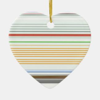 Horizontal stripes ceramic heart decoration