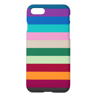 Horizontal Stripes In Fall Colors iPhone 7 Case