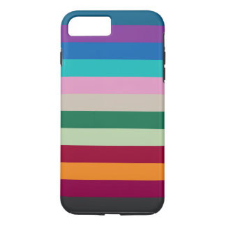 Horizontal Stripes In Fall Colors iPhone 7 Plus Case