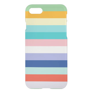 Horizontal Stripes In Spring Colors iPhone 7 Case