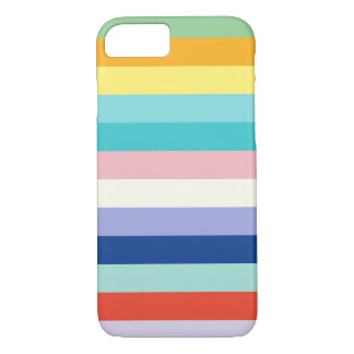 Horizontal Stripes In Spring Colors iPhone 8/7 Case