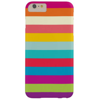 Horizontal Stripes In Summer Colors Barely There iPhone 6 Plus Case