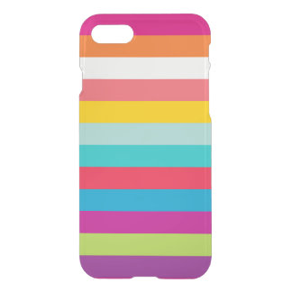 Horizontal Stripes In Summer Colors iPhone 7 Case