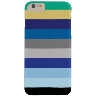 Horizontal Stripes In Winter Colors Barely There iPhone 6 Plus Case