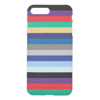 Horizontal Stripes In Winter Colors iPhone 7 Plus Case