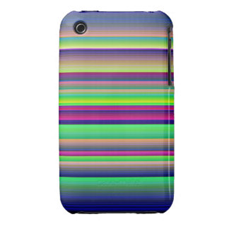 Horizontal Stripes Neon Rainbow iPhone 3G/3Gs Case-Mate iPhone 3 Case