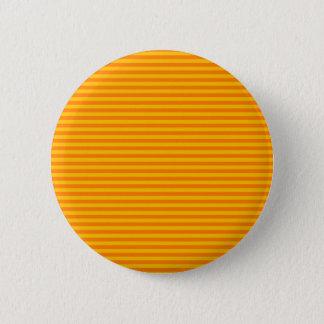 Horizontal Stripes - Orange and Amber 6 Cm Round Badge