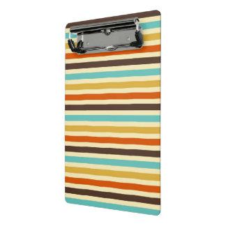 Horizontal Stripes Retro Colors Blue Yellow Red Mini Clipboard