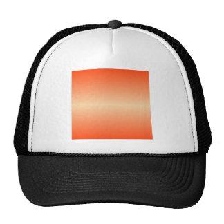 Horizontal Sunset and Coquelicot Gradient Cap