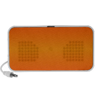 Horizontal Tangerine and Scarlet Gradient iPod Speaker