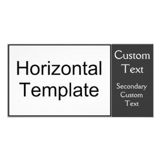 Horizontal Template Personalized Photo Card