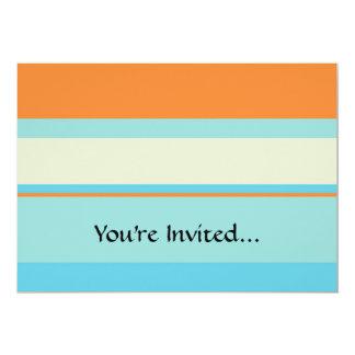 Horizontal Tonal Stripes in Soft Blue and Orange Card