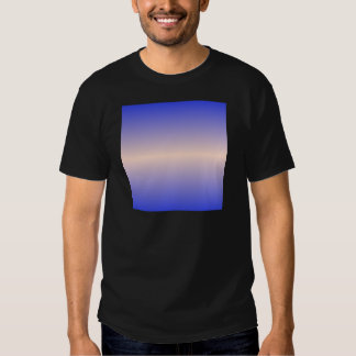 Horizontal Unbleached Silk and Palatinate Blue Shirt