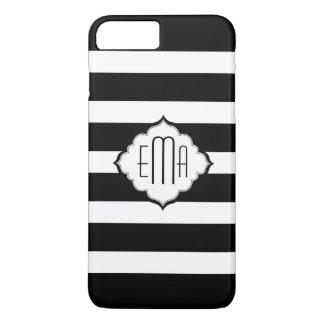 Horizontal White And Black Stripes iPhone 7 Plus Case