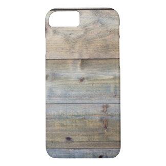 Horizontal worn plank wall iPhone 7 case