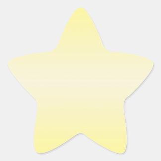 Horizontal Yellow 2 - Vanilla and Cadmium Yellow Star Sticker
