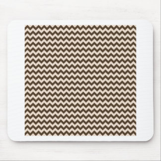 Horizontal Zigzag Wide - Almond and Cafe Noir Mouse Pad