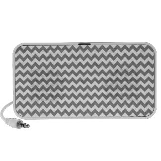 Horizontal Zigzag Wide - Gray and Light Gray Laptop Speakers