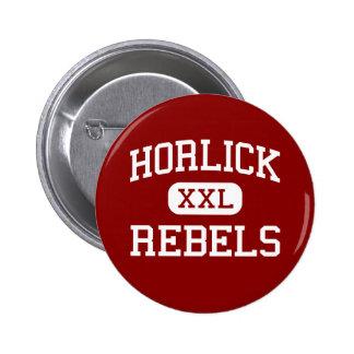 Horlick - Rebels - High School - Racine Wisconsin Pinback Button