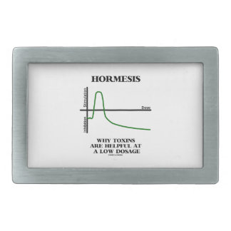 Hormesis Why Toxins Are Helpful At A Low Dosage Rectangular Belt Buckle