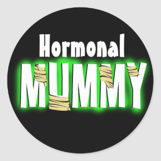 Hormonal Mummy Classic Round Sticker