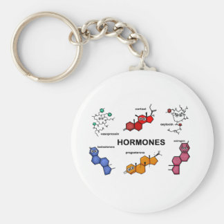 Hormones Basic Round Button Key Ring