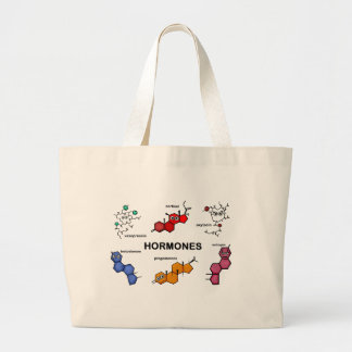 Hormones Large Tote Bag