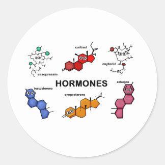 Hormones Round Stickers