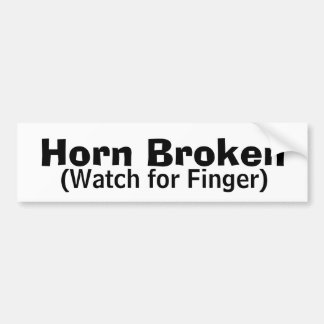 Horn Broken Bumper Sticker