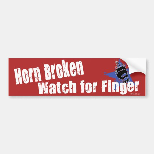Horn Broken Bumper Sticker