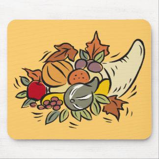 Horn o' plenty Thanksgiving Design Mouse Mat