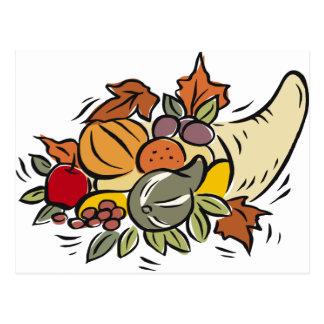 Horn o' plenty Thanksgiving Design Postcard