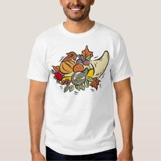 Horn o' plenty Thanksgiving Design T Shirt