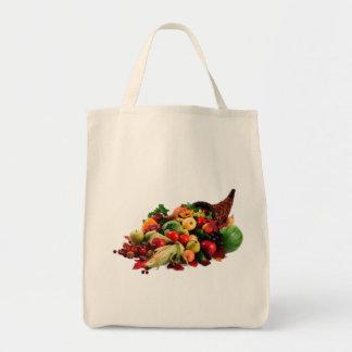 Horn of Plenty Bountiful Harvest Cornucopia Food Tote Bag