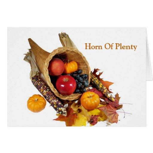 Horn Of Plenty Cards