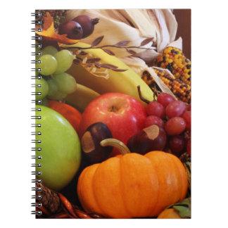 Horn Of Plenty Spiral Notebooks