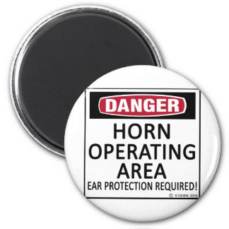 Horn Operating Area 6 Cm Round Magnet