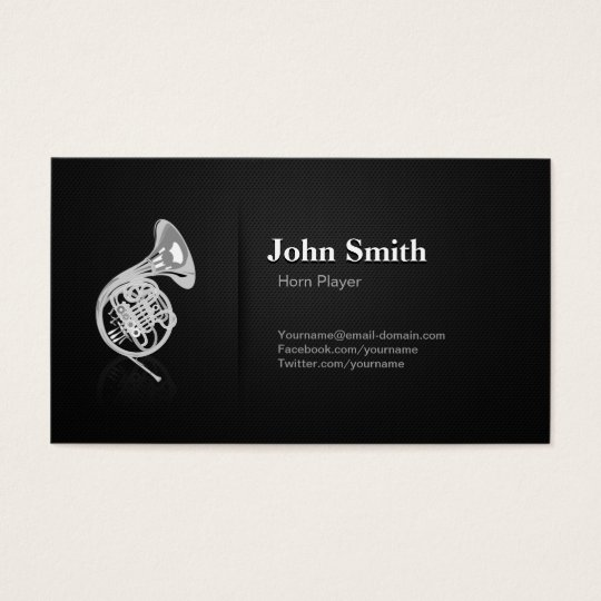 Horn Player - Professional Premium Black Mesh Business Card
