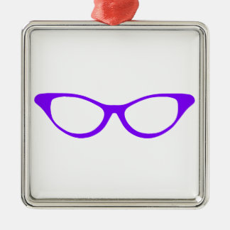 Horn Rim Glasses Christmas Ornament
