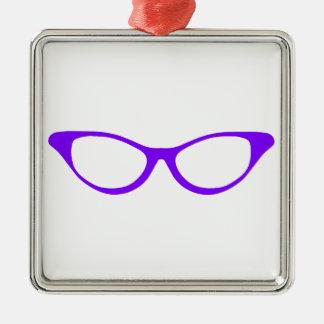 Horn Rim Glasses Silver-Colored Square Decoration