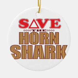 Horn Shark Save Christmas Ornament