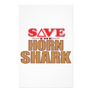 Horn Shark Save Stationery
