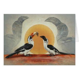 Hornbill Blank Card by Andrew Denman