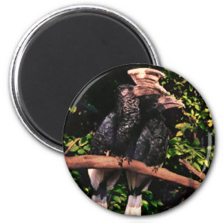 Hornbills In Love 6 Cm Round Magnet
