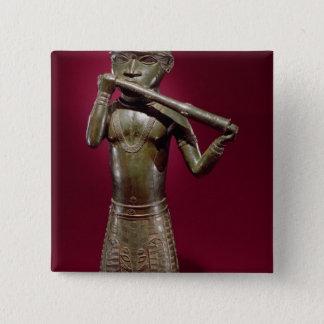 Hornblower, from Benin, Nigeria 15 Cm Square Badge